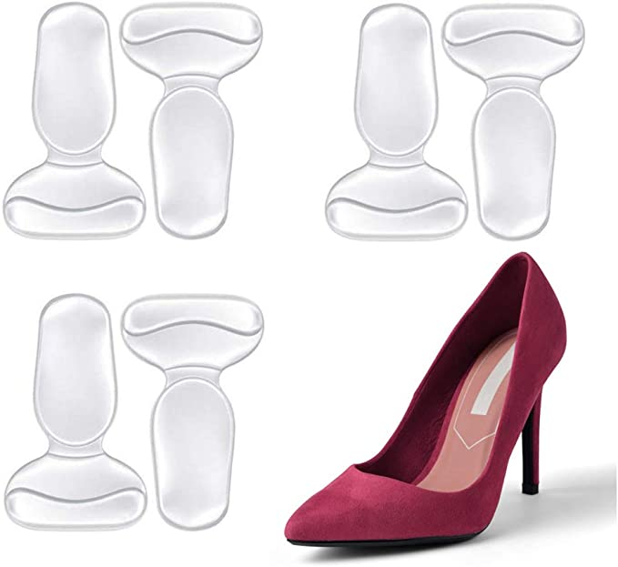 3 Pairs Shoes Silicone Pad Women High Heel Insole Cushion Foot Pad Comfort Hot