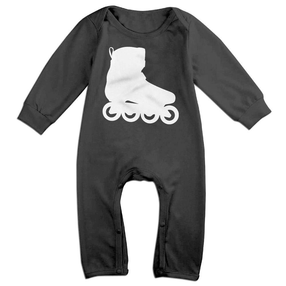 Silhouette Roller Skates Long Sleeve Infant Baby Bodysuit for 6-24 Months Bodysuit