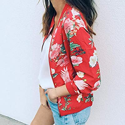 Hemlock Women Cardigans Coats Outwear Floral Pullovers Tops Office Lady Work Jacket Zipper Tops Blouse: Clothing