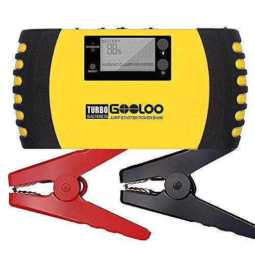GOOLOO 1500A Peak 20800mAh SuperSafe Car Jump Starter with USB Quick Charge 3.0 (Up to 8.0L Gas,...