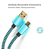 USB Type C Cable Gold Plated Quick Charge 3.0 Durable Braided 6ft Extral Long Thick Cord with Reversible Connector - blue