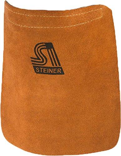Steiner 12109 Helmet Bib, Brown Split Cowhide, Velcro Fasteners,8.5-Inch x 8.5-Inch (6-Pack)