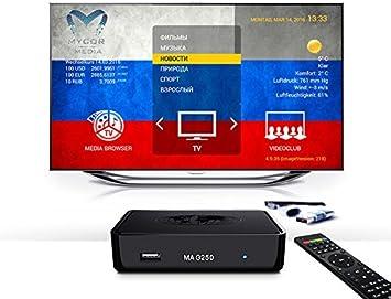 Ruso TV IPTV Mag 256 Internet TV Set Top Box Aura HD 12 meses ...