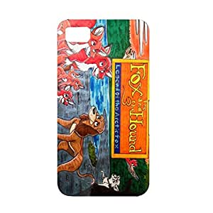 Colorful Painted The Fox and The Hound 3D Protective Cellphone Case for Blackberry Z10