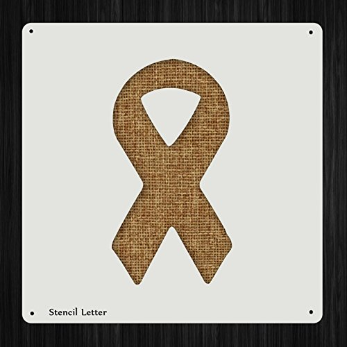 Cancer Awareness Ribbon Style 153, DIY Plastic Stencil Acrylic Mylar Reusable