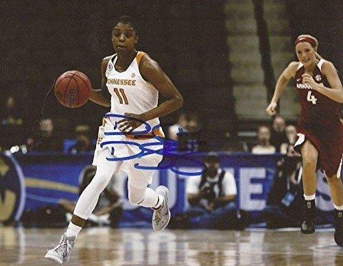Diamond DeShields WNBA Sky signed Tennessee Lady Volunteers 8x10 photo Vols 3 - Autographed College Photos