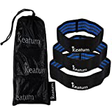 keatum wellness Hip Resistance Bands – for men and women, great for leg and butt exercises. Set of 3 – Light, Medium and Heavy Resistance For Sale