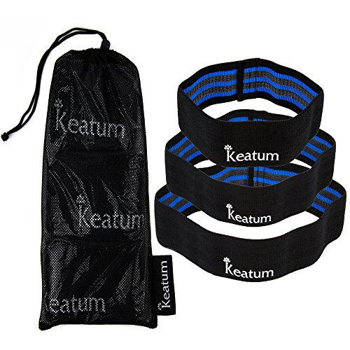 keatum wellness Hip Resistance Bands - for men and women, great for leg and butt exercises. Set of 3 - Light, Medium and Heavy Resistance