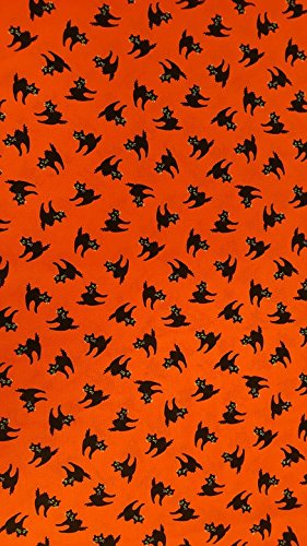Acrylic Face Mounted Prints Halloween Cats Horror Holiday Design Orange Print 18 x 24. Worry Free Wall Installation - Shadow Mount is Included.