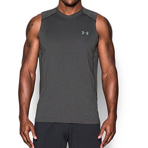 Under Armour Men's Raid Sleeveless T-Shirt, Carbon Heather /Steel, Large