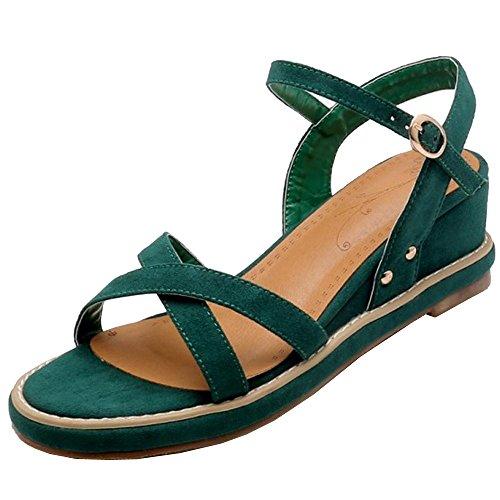 Taoffen Compensees Sandales Femmes Vert Confortable 77Rqwv