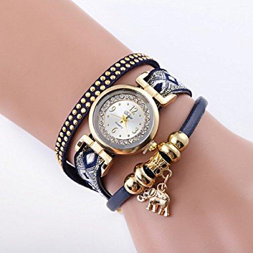 romatco London – Reloj Elephant Charm (tela y aleación hautement poli color oro – Perfume