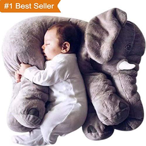 ECEJIX Stuffed Elephant Plush Toys Lovely Elephant Decoration 60cm