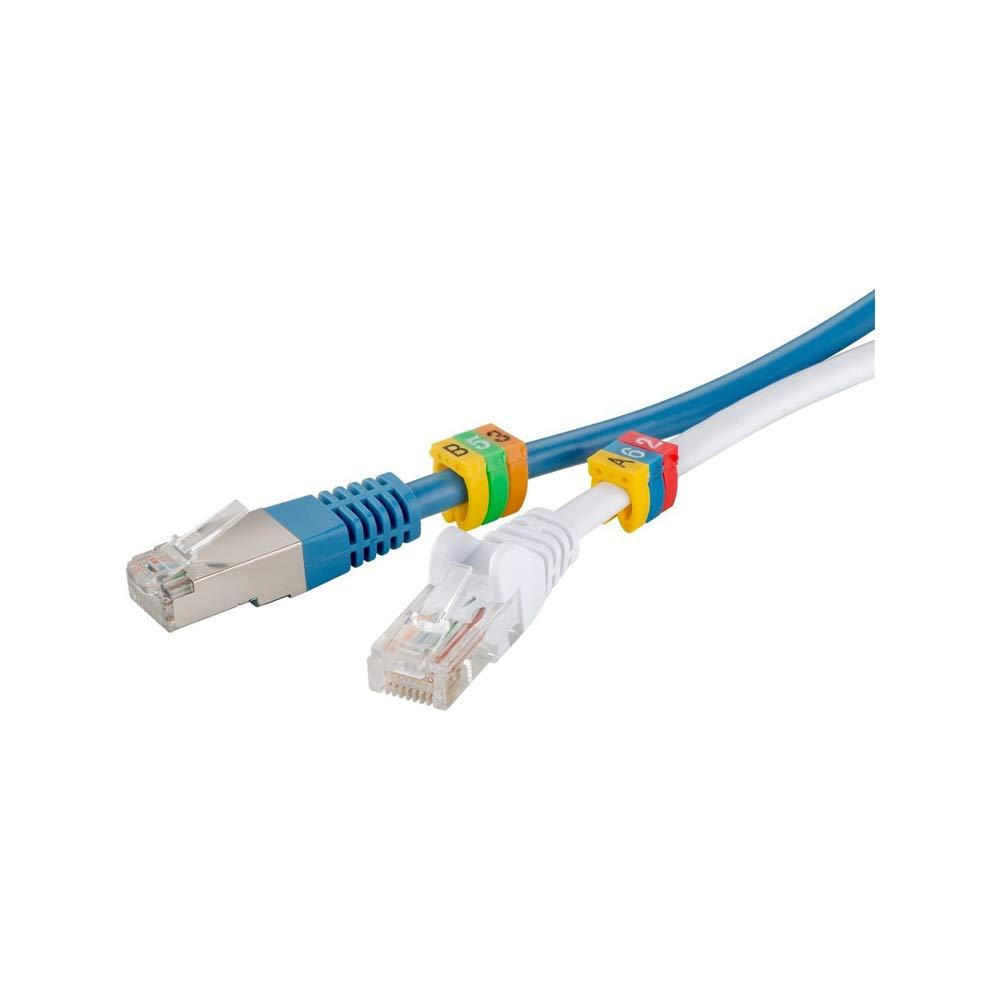 goobay Clips para marcar Cables 0-9/por di/ámetro de Colores Amarillo 6,0 mm