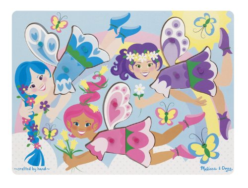 Mix Match Peg Puzzle - Melissa & Doug Fairies Dress-Up Wooden Peg Puzzle (9 pcs)