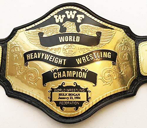 Haio Sports WWF World Heavyweight Wrestling Title Replica Championship Belt- Brass Metal 4mm
