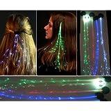 Set of 4 Glowbys LED Fiber Optic Light-up Rainbow Hair Barrette.