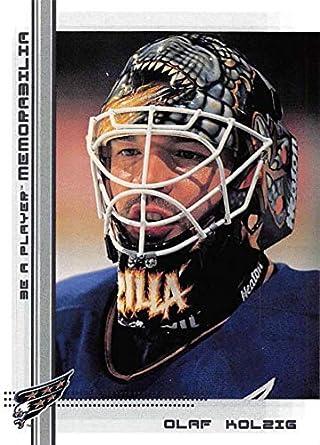 1fc1982d952 2000-01 Be A Player Memorablia Hockey  80 Olaf Kolzig Washington Capitals  Official Trading