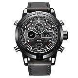 Hot Sale! Gibobby Mens Watches,Luxuary Quartz Digital LED Sport Wristwatches Chronograph Belt Watch Analog Wrist Watch with Date Alarm