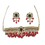 Traditional Jewels Indian ethnic party wear Bollywood designer Women Multicolor kundan necklace set