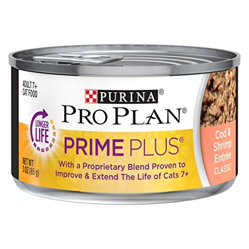 Cheap Purina Pro Plan Prime Plus Grain Free Classic Cod & Shrimp Entree Adult 7+ Wet Cat Food – (24) 3 Oz. Pull-Top Cans