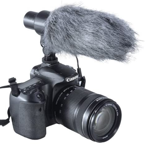 Aputure V-Mic D1 Super-Cardioid Directional Condenser Shotgun Microphone with Windscreen
