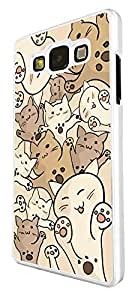 1183 - Fun Multi Cats Playfull Cute Cats Design For Samsung Galaxy A3 Fashion Trend CASE Back COVER Plastic&Thin Metal - White