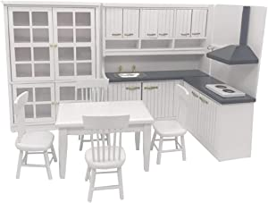 FenglinTech Dollhouse Miniatures Furniture Kitchen Set for 1 12 Scale Dollhouse Furniture