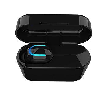 fish HBQ-P26 inalámbrica Bluetooth 4.2 + EDR Mini Solo oído botón de los Auriculares 500mAh Carga de la Caja Auriculares: Amazon.es: Electrónica
