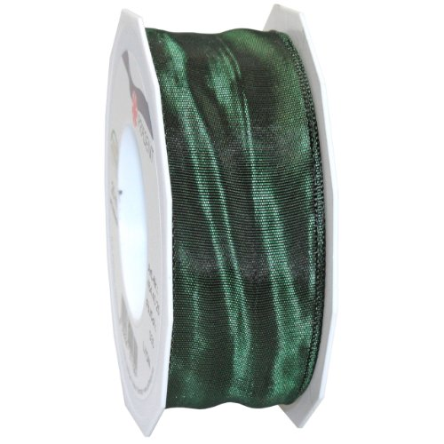 Morex Ribbon French Wired Lyon Ribbon, 2-3/8-Inch by 27-Yard Spool, Hunter