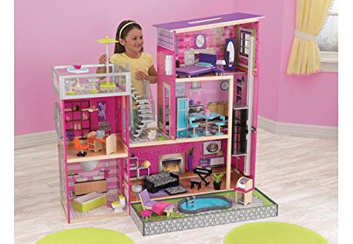 (KidKraft Girl's Uptown Dollhouse with Furniture)