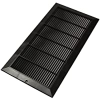 Decor Grates PL818-BLK 8-Inch by 18-Inch Cold Air Return, Black
