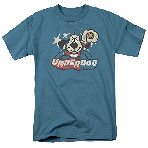 Underdog 1960's Animated TV Series Vinatage Style Flying Logo Adult T-Shirt XXXL