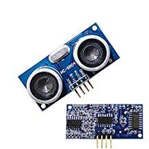 Measuring Module Ranging Ultrasonic Distance Sensor for Obstacle Avoidance in Raspberry Pi or Arduino Projects Pack of 2