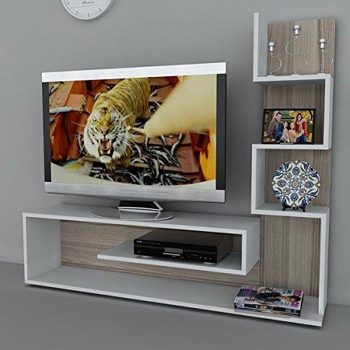 Fernseh Schrank Tisch f/ür Wohnzimmer I Wei/ß Cordoba I Metehan 1711 I 149,5 x 29,5 x 120,8 cm Alphamoebel TV Board Lowboard Fernsehtisch Fernsehschrank Sideboard