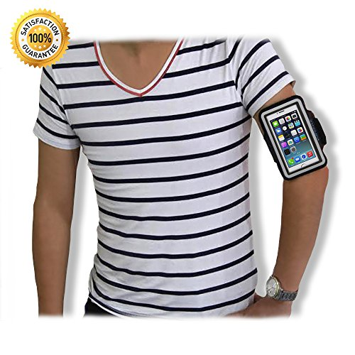 The Best Sporty Armband + Key Holder Case for Iphone 5 5s 5c Series. Ipod Touch 5th Generation Fashionable Black Designer Sport for Men Women. Durable Fitting Sports Arm Band with Velcro Strap-fluid Resistant Washable Lifetime