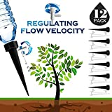 DCZTELG Plant Watering Spikes Predictable use time Devices System-Vacation Automatic Drip Irrigation Watering Care Your Flower Travel Forgetting Potted Plants Black&White (12pack)