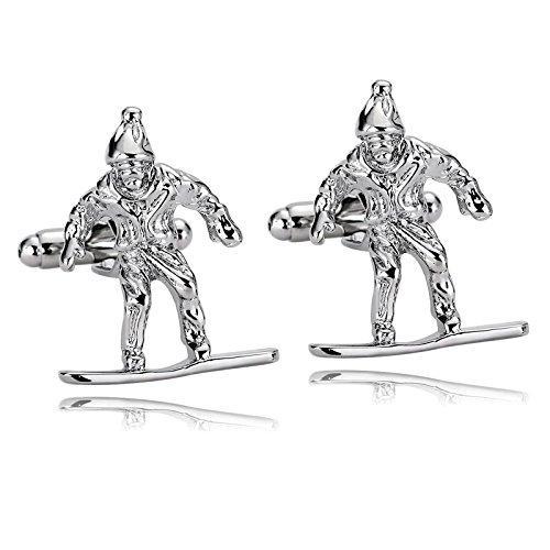 KnSam Stainless Steel Silver Ski Skier Snow Skiing