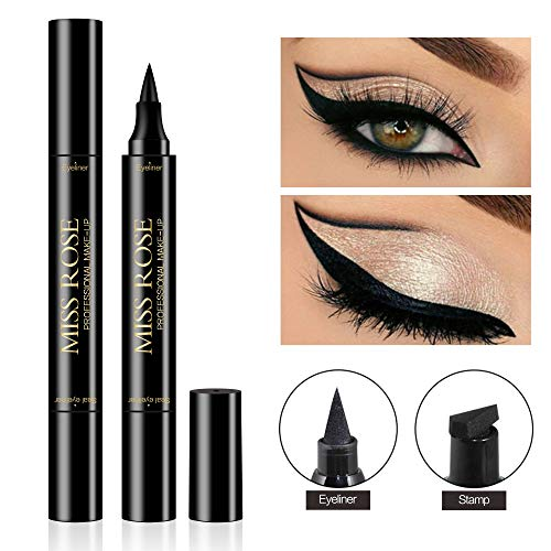 - Shake Beauty Eyeliner Stamp - Vogue Effects Black, Waterproof Make Up, Smudgeproof, Winged Long Lasting Liquid Eye liner Pen, Vamp Style Wing, 1 Pens In A Pack (10mm Classic)