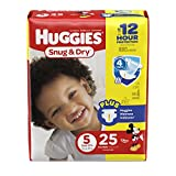 HUGGIES Snug & Dry Diapers, Size 5, 25 Count (Packaging May Vary) Image