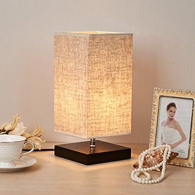 lampara mesa Lámpara De Mesa Simple, Lámpara De Escritorio De Lino ...