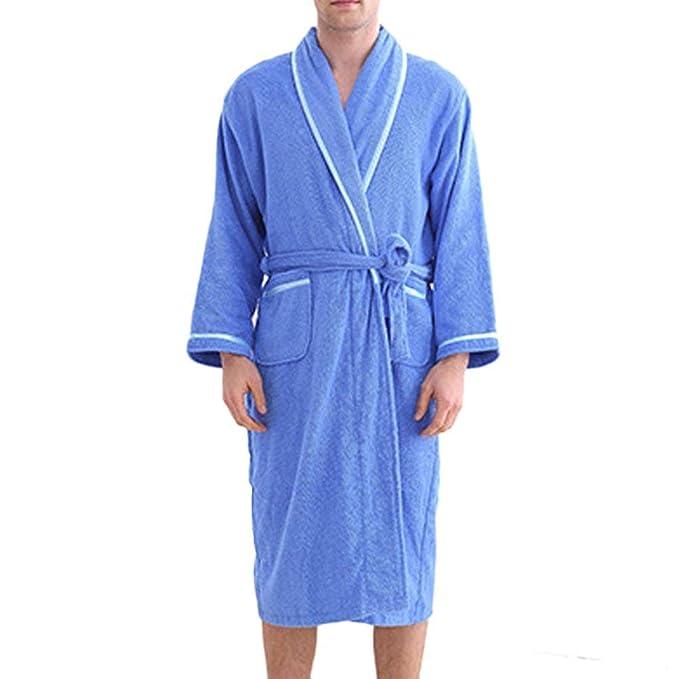 ... Cinturón V-Cuello Camisones Otoño Invierno Fashionista Hombre Mujer Manga Larga Conjunto De Pijama Espesar Batas Pijama: Amazon.es: Ropa y accesorios