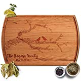 Froolu Family Tree Name Branches large butcher block cutting board for Family Housewarming Gifts