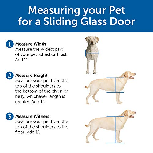 PetSafe Freedom Aluminum Patio Panel Sliding Glass Dog and Cat Door, Adjustable 91 7/16'' to 96-Inch, White, Large-Tall by PetSafe (Image #2)