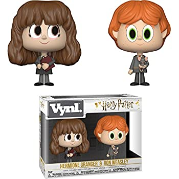 Funko Ron Weasley & Hermione Granger: Harry Potter x Vynl. Vinyl Figure Set + 1 Official Harry Potter Trading Card Bundle [30001]