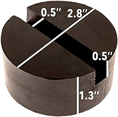 Slotted Pucks Mission Automotive 2-Pack Of Rubber Jack Pads - Universal Stand