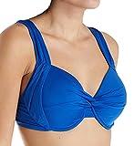 Jantzen Women's Solid D/Dd Cup Underwire Bikini Top, Night Ocean, 34DD