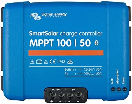 Victron SmartSolar MPPT Laderegler 100/50 12V / 24V Bluetooth Dongle integriert SCC110050210 50A Solarladeregler