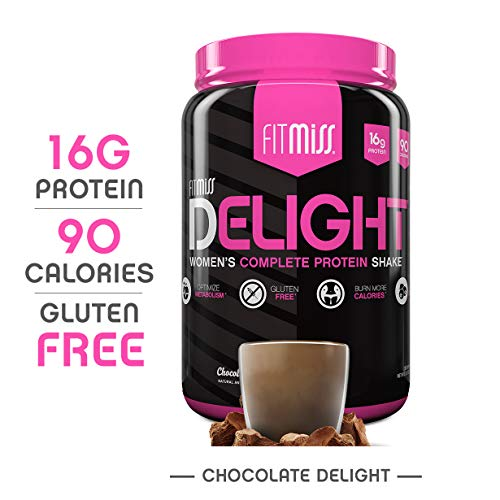 FitMiss Delight Protein Powder, Healthy Nutritional Shake for Women, Whey Protein, Fruits, Vegetables and Digestive Enzymes, Support Weight Loss and Lean Muscle Mass, Chocolate, 2 Pound