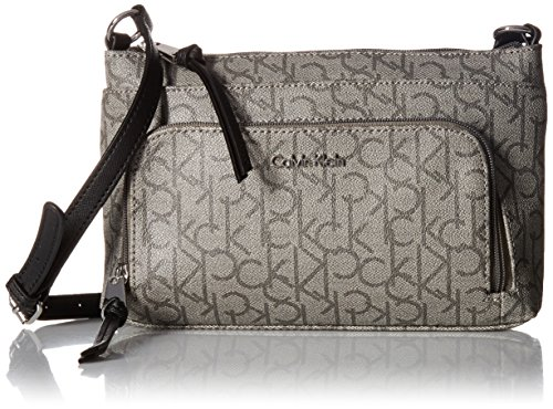 Calvin Klein Key Item Monogram Multi Entry Crossbody (Key Item Cross Body)